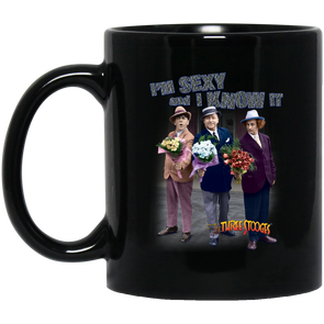 Three Stooges 11 oz. Black Mug - Sexy FREE SHIPPING