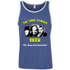 Three Stooges Beer Ringspun Cotton Tank Top