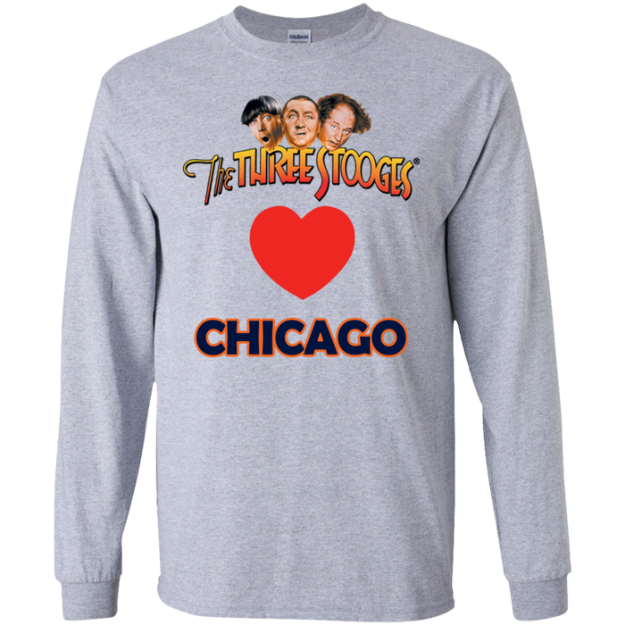 Three Stooges Love Chicago Long Sleeve Heart Shirt