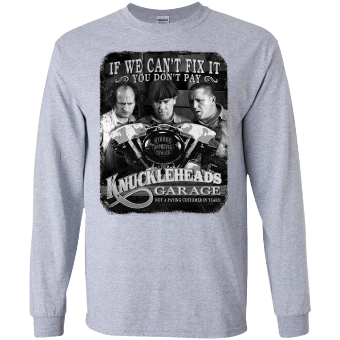 Three Stooges Knuckleheads Garage Long Sleeve T-Shirt