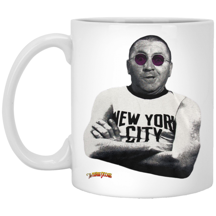 Three Stooges Curly Lennon 11 oz. White Mug