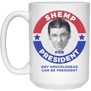 Three Stooges Shemp For President 15 Oz. Mug