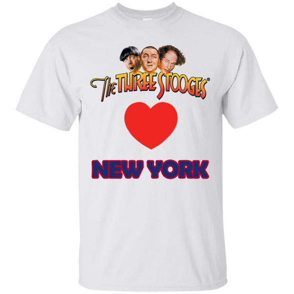 Three Stooges Love New York Heart T-Shirt