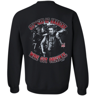 Three Stooges Of Anarchy Crewneck Pullover Sweatshirt