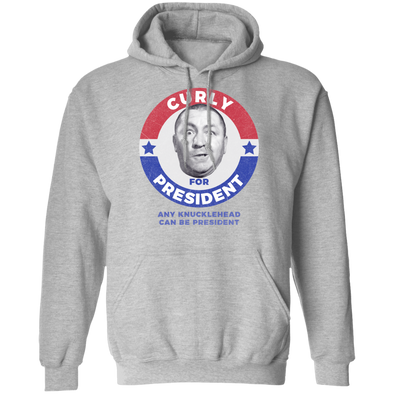 Three Stooges Curly For President Pullover Hoodie 8