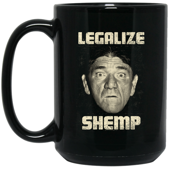 Three Stooges Legalize Shemp Large 15 oz. Black Mug - FREE SHIPPING