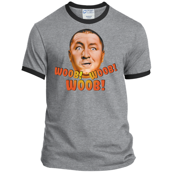 Three Stooges Curly Woob Woob Woob Ringer T-Shirt