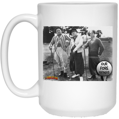 Three Stooges Golf Fore Fathers 15 Oz. Mug - Free Shipping