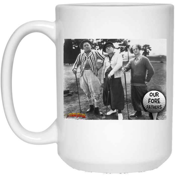 Three Stooges Golf Fore Fathers 15 Oz. Mug