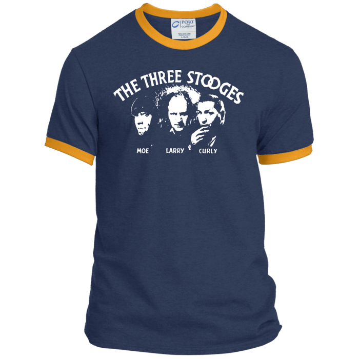 Three Stooges Classic Credits Ringer Tee