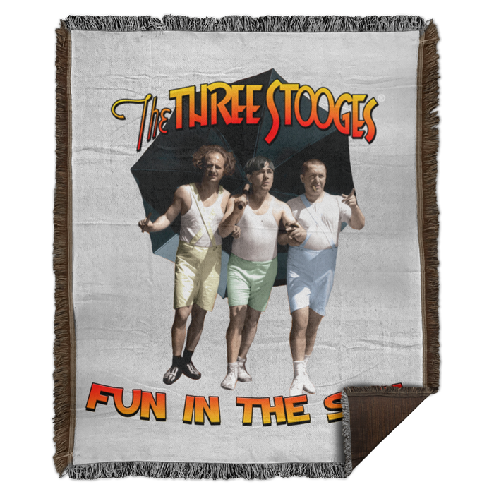 Three Stooges Fun In The Sun Woven Blanket - 50X60