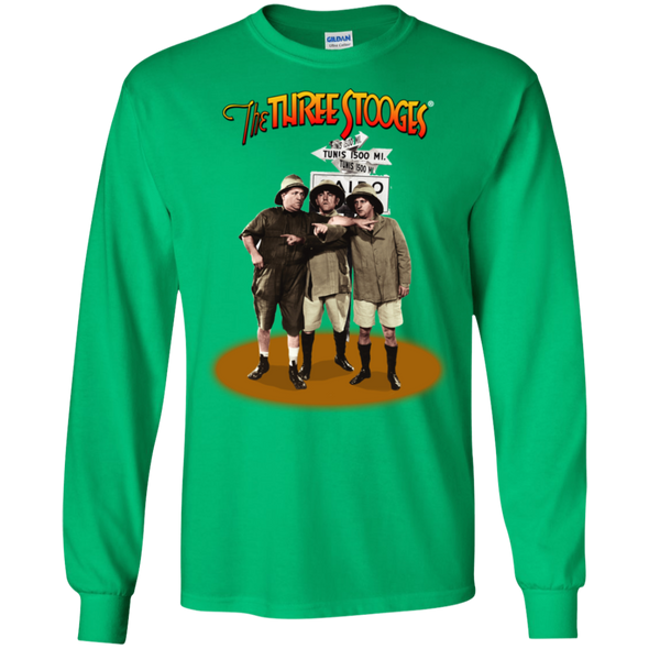Three Stooges Safari Long Sleeve T-Shirt