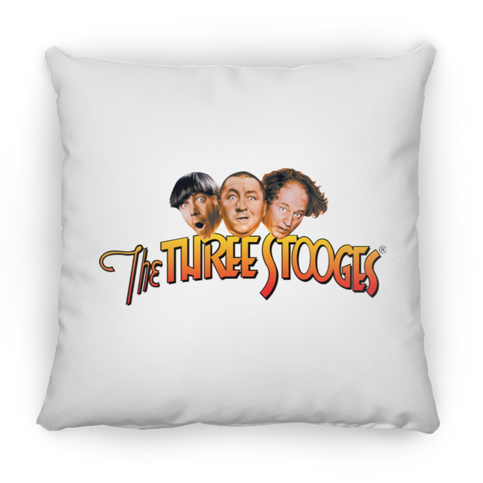 Three Stooges Square Throw Pillow 16x16