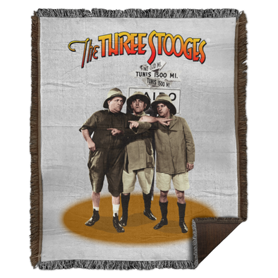 Three Stooges Safari Woven Blanket - 50X60
