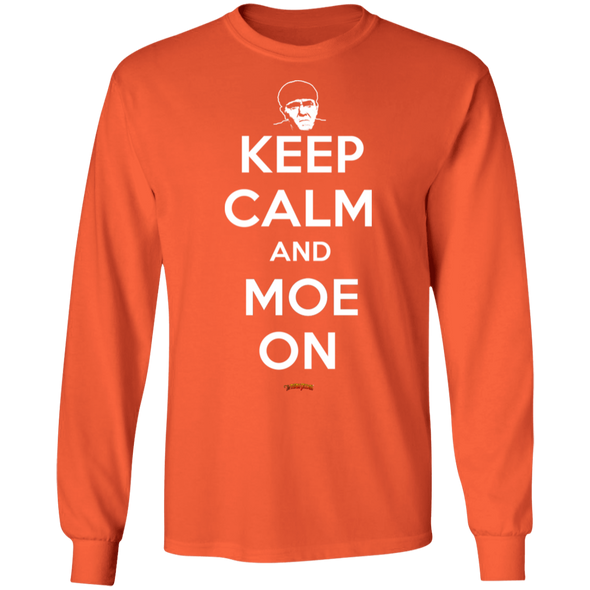 Three Stooges Keep Calm And Moe On Long Sleeve T-Shirt
