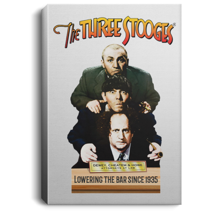 Three Stooges Dewey, Cheatem, & Howe Portrait Canvas .75In Frame