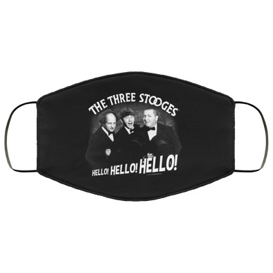 Three Stooges Hello Hello Hello Face Mask