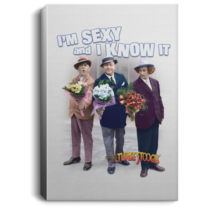 Three Stooges Sexy Portrait Canvas .75In Frame