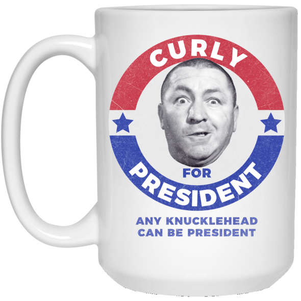 Three Stooges Curly For President 15 Oz. Mug