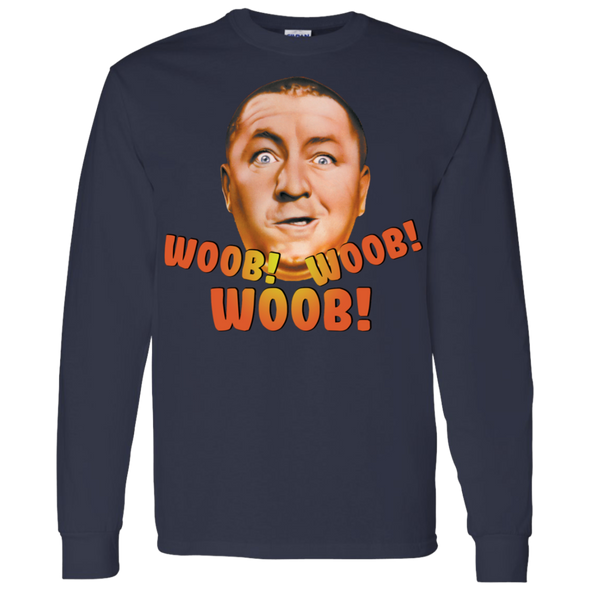 Three Stooges Curly Woob Woob Woob Long Sleeve T-Shirt
