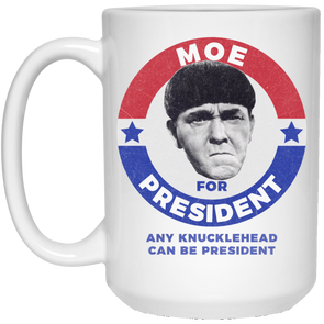 Three Stooges Moe For President 15 Oz. Mug