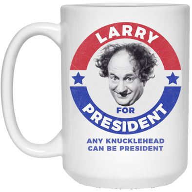 Three Stooges Larry For President 15 Oz. Mug