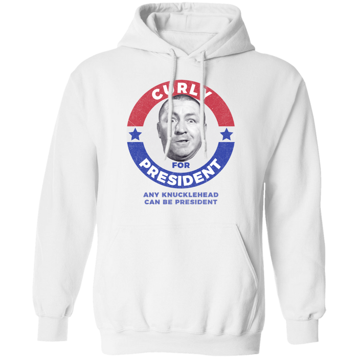 Three Stooges Curly For President Pullover Hoodie
