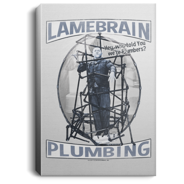 Three Stooges Lamebrain Plumbing Portrait Canvas .75In Frame