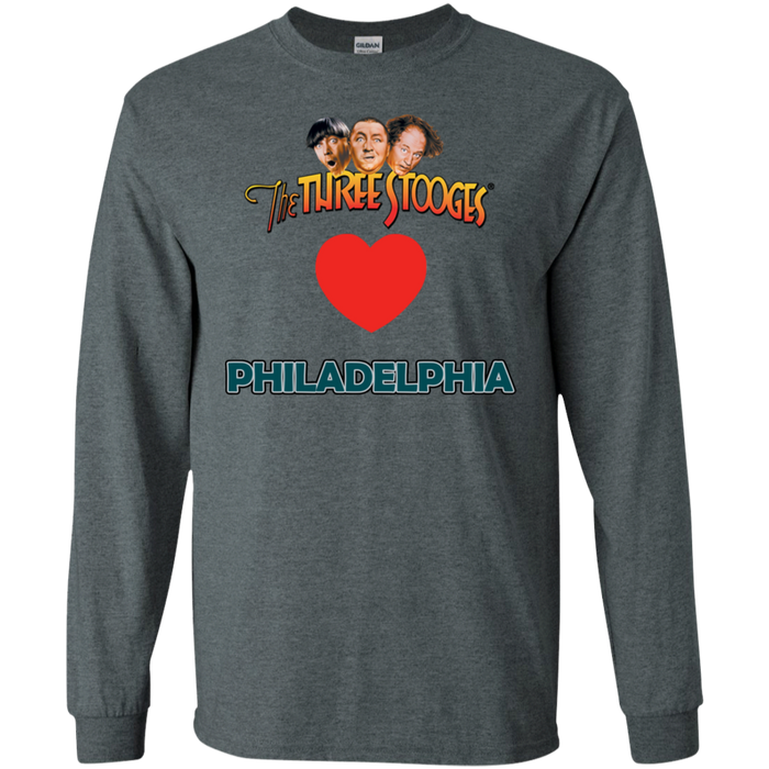 Three Stooges Love Philadelphia Long Sleeve Heart Shirt