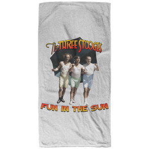Three Stooges Fun In The Sun Bath Towel - 32X64