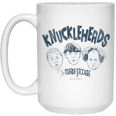 Three Stooges Large 15 Oz. White Mug - Knuckleheads Free Shipping