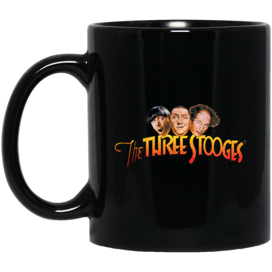 Three Stooges Classic Logo 11 oz. Black Mug - Free Shipping