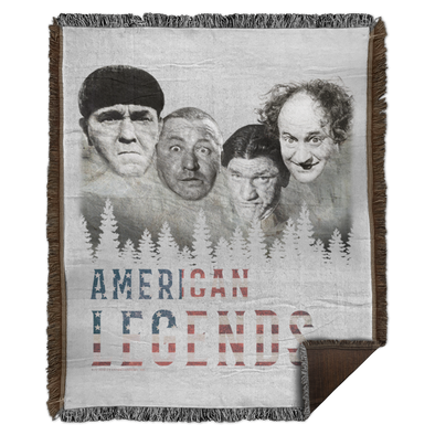 Three Stooges American Legends Woven Blanket - 50X60