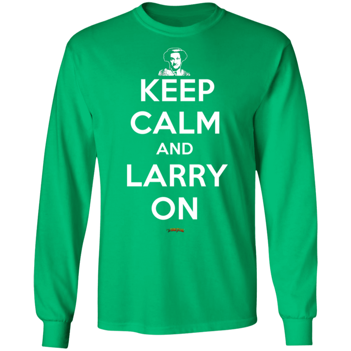 Three Stooges Keep Calm And Larry On Long Sleeve T-Shirt