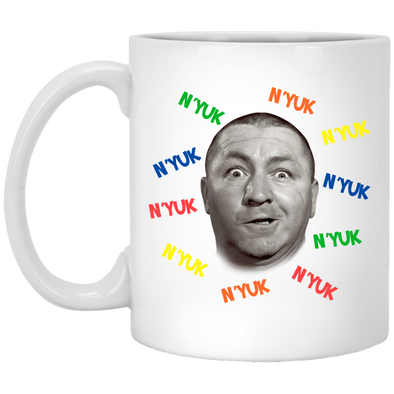 Three Stooges Curly Nyuk Retro Mug - FREE SHIPPING