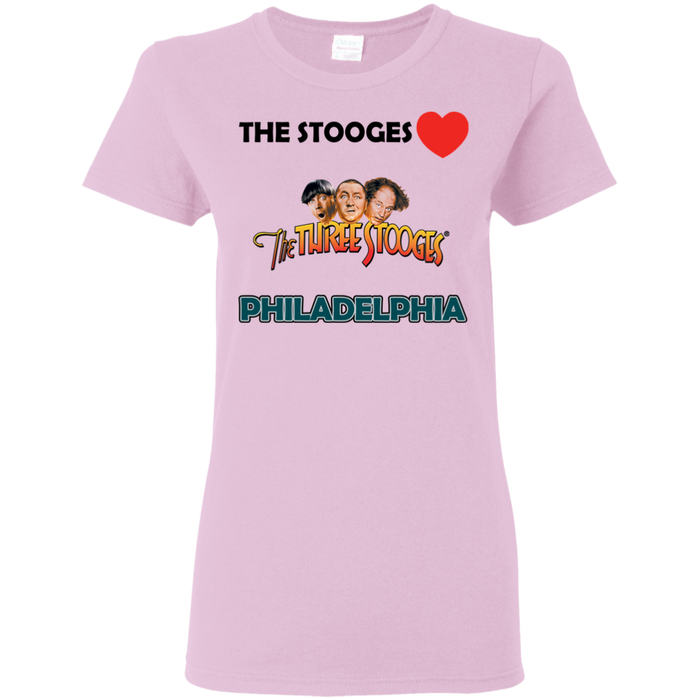 Three Stooges Love Philadelphia Ladies T-Shirt.