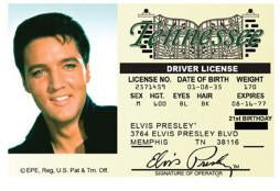 Elvis Presley Drivers License Magnet