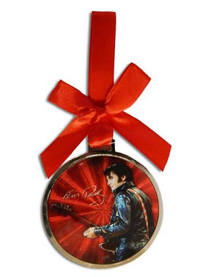 Elvis Presley 1968 Name Foil Christmas Ornament