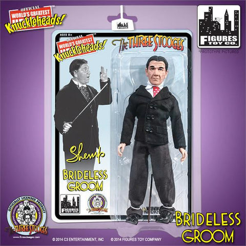 "The Three Stooges Action Figure: Brideless Groom Shemp 8"" - LIMITED EDITION - READY TO SHIP"