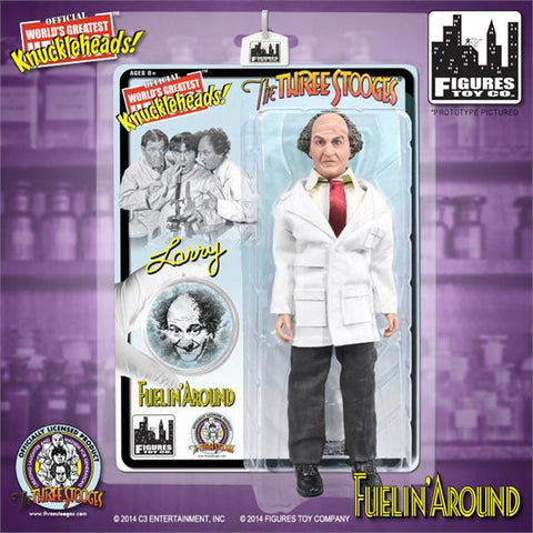 "The Three Stooges Action Figure: Fuelin' Around Larry 8"" - READY TO SHIP"