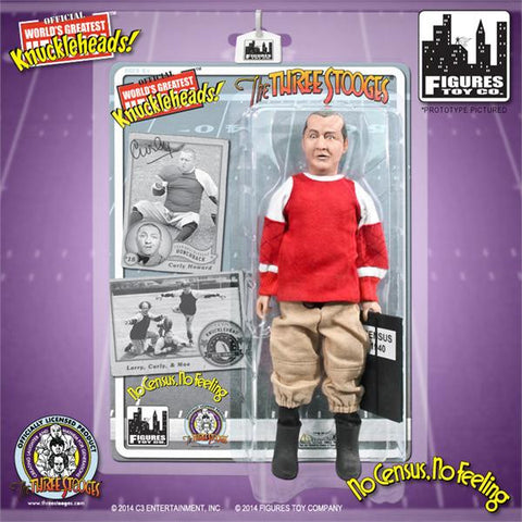 "The Three Stooges Action Figure: No Census, No Feeling Curly 8"" - READY TO SHIP"