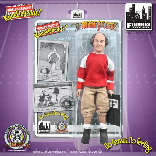 "The Three Stooges Action Figure: No Census, No Feeling Larry 8"" - READY TO SHIP"