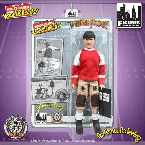 "The Three Stooges Action Figure: No Census, No Feeling Moe 8"" - READY TO SHIP"