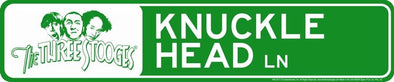 The Three Stooges Tin Street Sign: Knucklehead Lane - READY TO SHIP