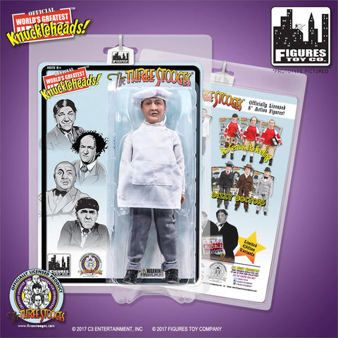 "The Three Stooges Action Figure: Chef Curly 8"" - READY TO SHIP"