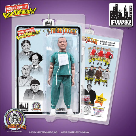 "The Three Stooges Action Figure: Surgeon Curly 8"" - READY TO SHIP"