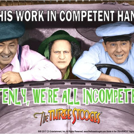 The Three Stooges Parking Tin Sign: Stooges Incompetent - ESTIMATED TO BE BACK IN STOCK 11/25/17