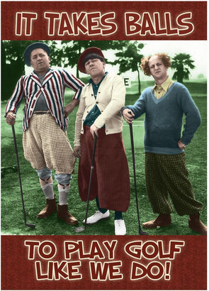 Three Stooges Magnet: Golf