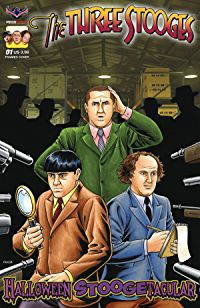 The Three Stooges Comic Book Series 7 / Fraim Bros Cover 2: Halloween Stoogetacular 2017