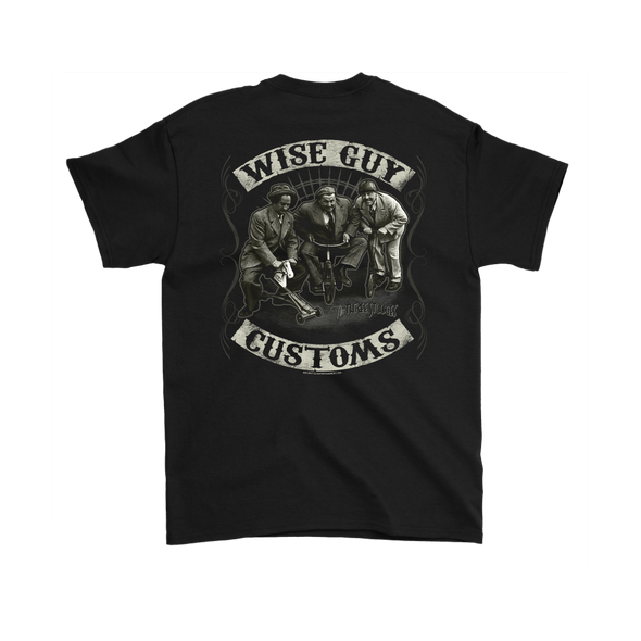 THREE STOOGES WISE GUY CUSTOMS FRONT & BACK T-SHIRT